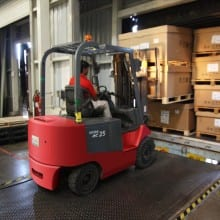 Remote inventory forklift photo