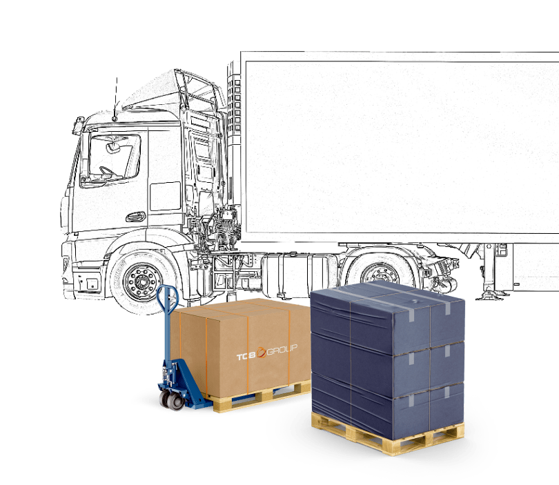 TCB Freight Dublin Lorry and Freight Illustration